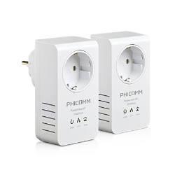 500Mbps Passthrough Powerline Network Adapter Kit