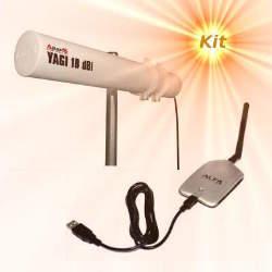 Alfa AWUS036H WLAN USB Adapter Yagi Antenna 18dBi 5m