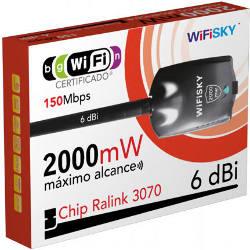 WifiSky 2000mW USB Adapter 6dBi Omni Antenna