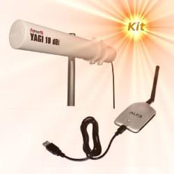 Alfa AWUS036H WLAN USB Adapter Yagi Antenna 18dBi 10m