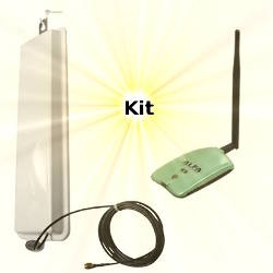 Alfa AWUS036NH WLAN USB Adapter 14dBi Wifi Antenna