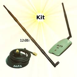 Alfa AWUS036NH USB Adapter 12dBi Omni Antenna Magnetic