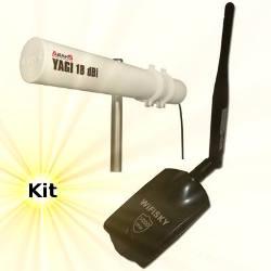 WiFiSky 3000mW USB Adapter 18dBi Yagi Antenna 10m