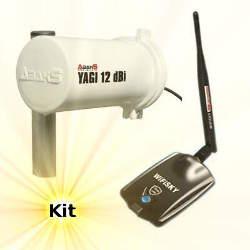 WiFiSky 2000mW USB Adapter 12dBi Wifi Yagi Antenna